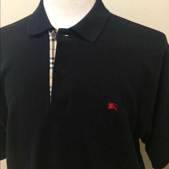 Burberry Shirts   Mens Polo Shirt Black Size Xl   Poshmark 9a7bb9689e9